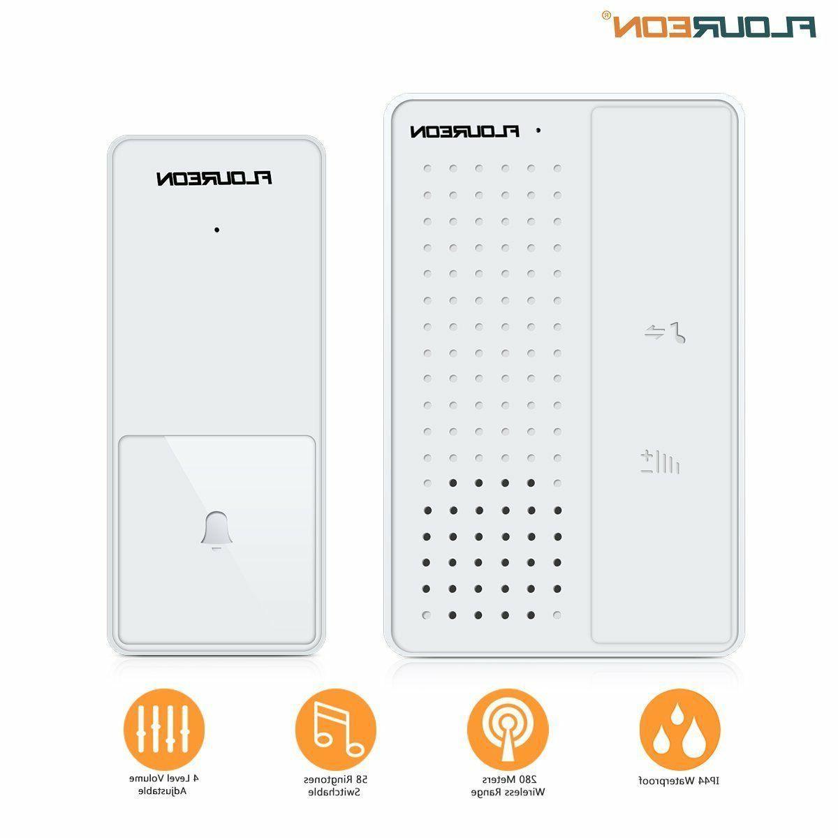 wireless doorbell kit door chime remote 1000ft
