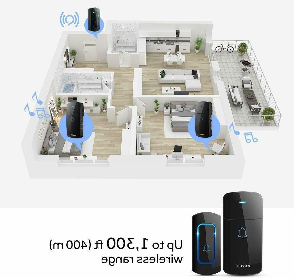 Wireless Doorbell Kit Door Over 1300