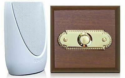 wireless doorbell kit period style roped brass