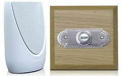 wireless doorbell kit period style roped brushed