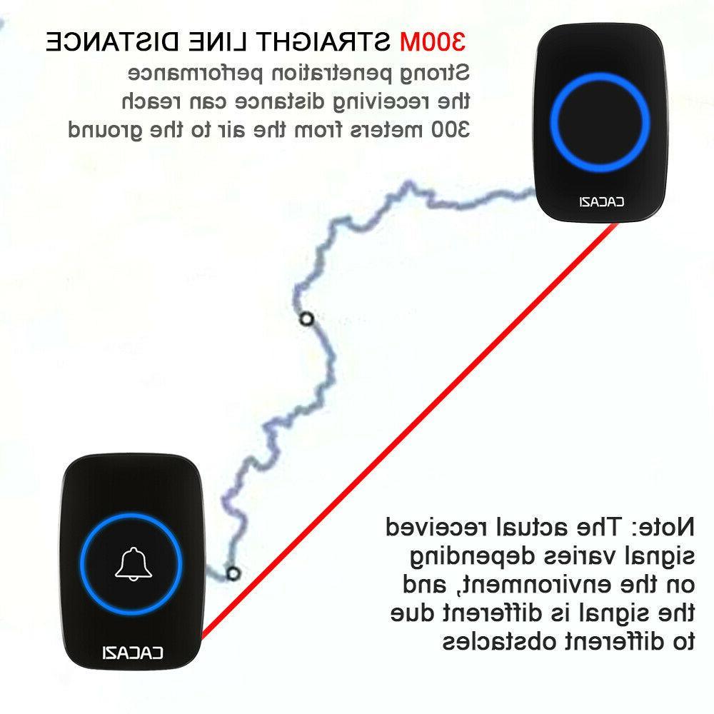 Wireless Doorbell ,Mini Door Bell Kit Plug-In