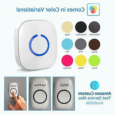 Wireless Doorbell Over Range, 52 Chimes,Adjustable Volume,