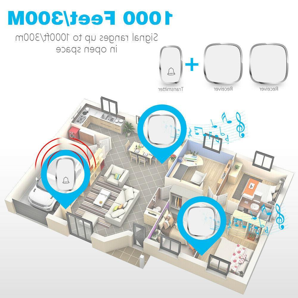 Wireless Doorbell, Plug And Play Waterproof Door Kit,1Push