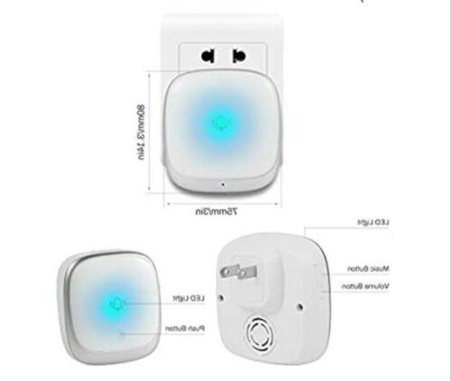 Wireless Doorbell, Plug Play Waterproof