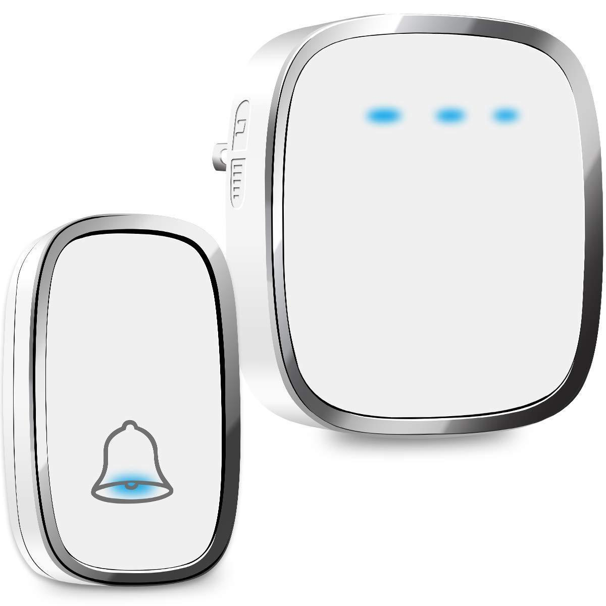 wireless doorbell plug and play waterproof door