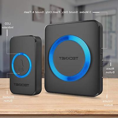 Wireless Doorbell, TeckNet Cordless Door Chime with Range,