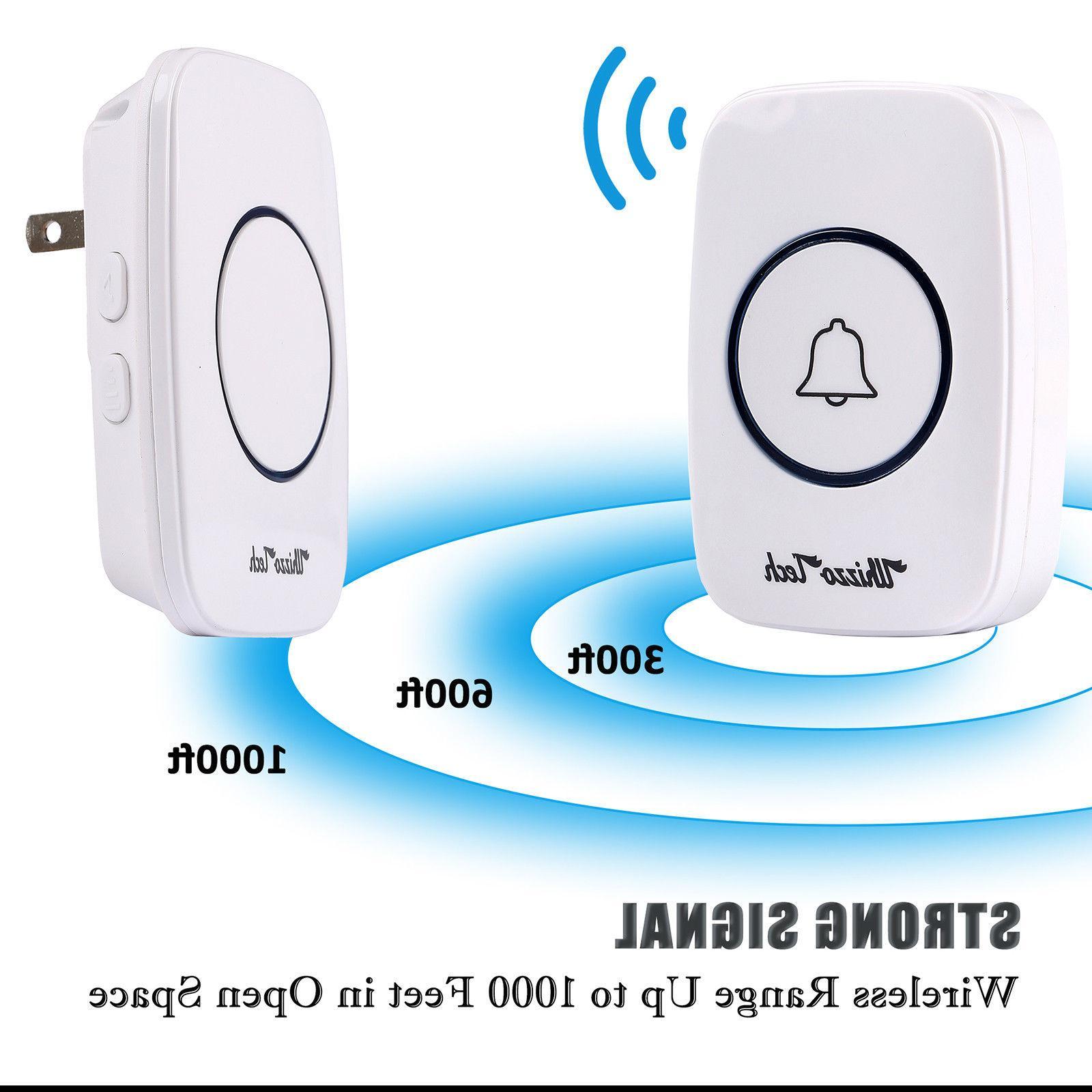 Wireless Waterproof Door Chime Buttons+1 Plug-In Receiver
