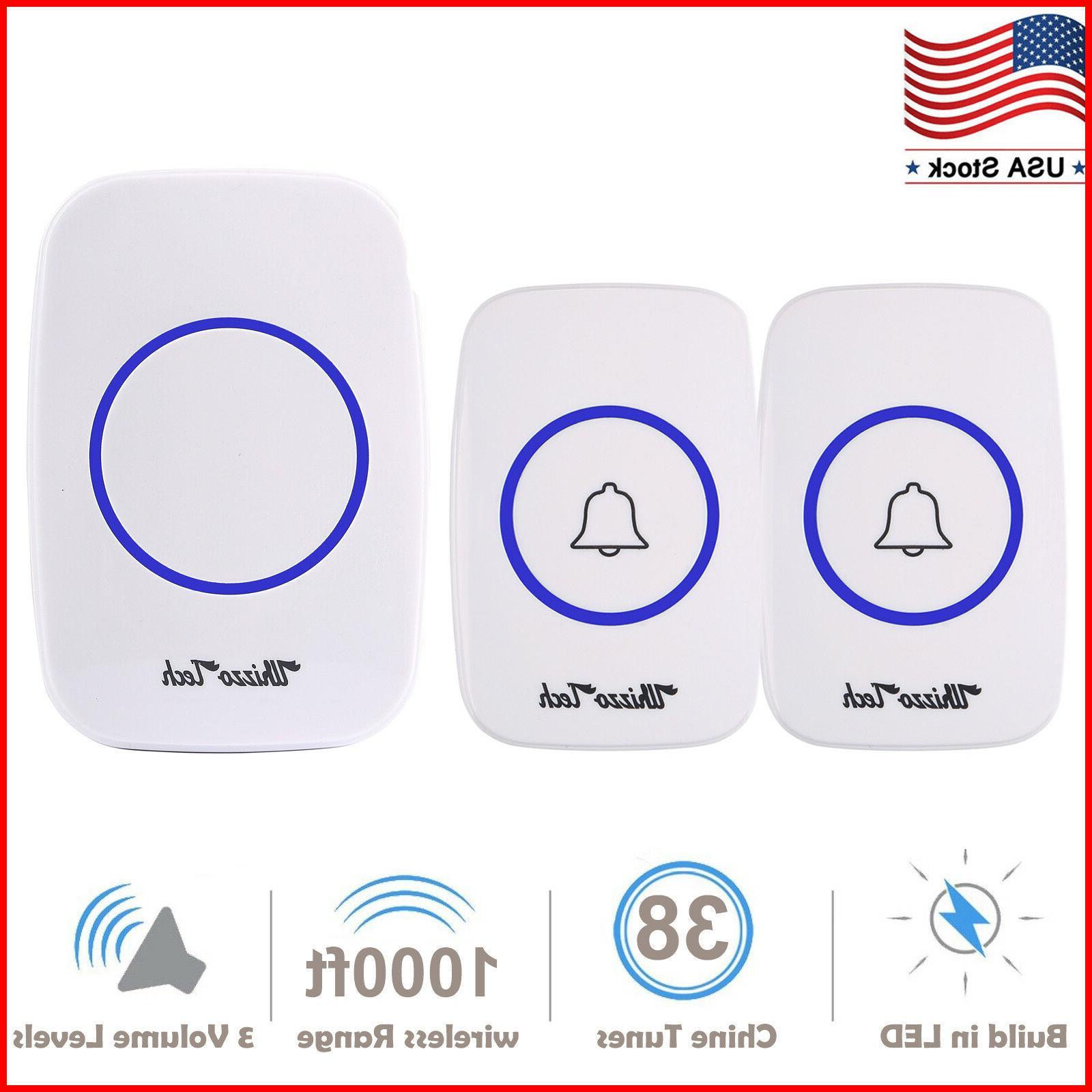 wireless doorbell waterproof door chime kits 2