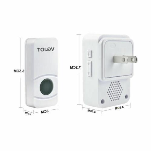 Wireless Doorbell Waterproof Wall 400FT Cordless Kit