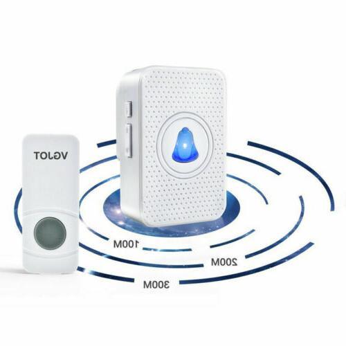 Wireless Doorbell Receiver Wall Plugin 55 Chimes 400FT Kit