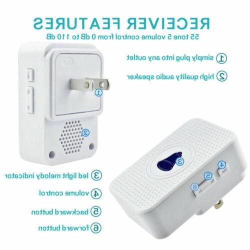 Wireless Waterproof Wall Plugin 400FT Cordless Kit