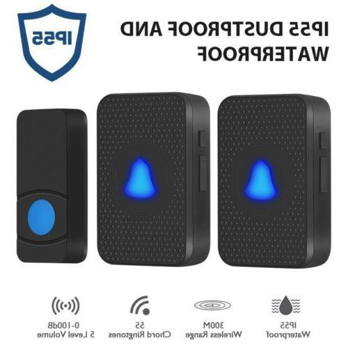 wireless doorbell waterproof receiver wall plugin 55