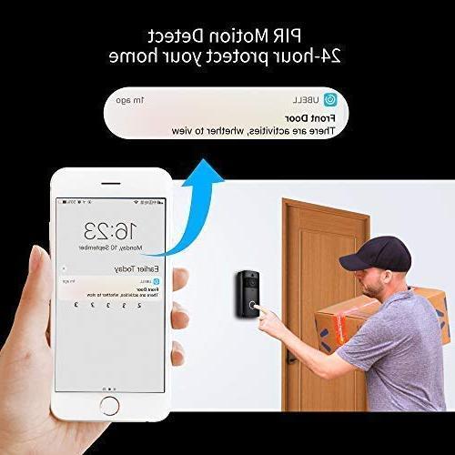 Wireless Video Doorbell-Onlyee WiFi IP Doorbell with Real-time Two-way PIR and Free Cloud Service Doorbell Chime