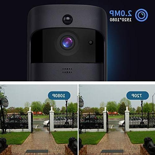 Wireless Video IP 65 with Full HD Real-time video, audio, PIR Motion Free Doorbell Chime