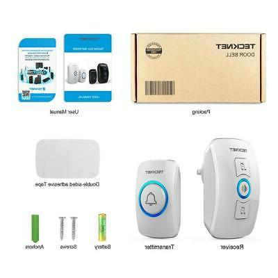 Wireless Doorbell, TeckNet Door Bell Kit with 1