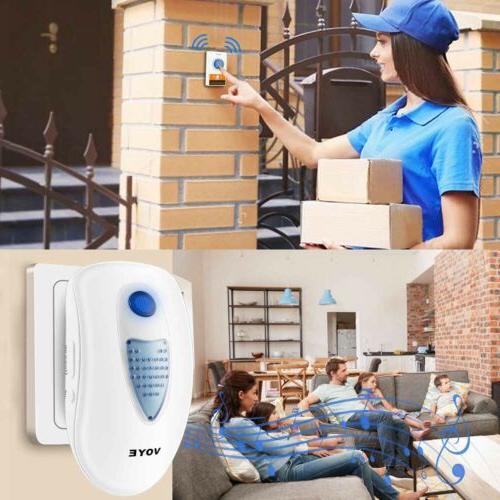 Wireless Doorbells Door Ring Chime 3 2 Receivers+1