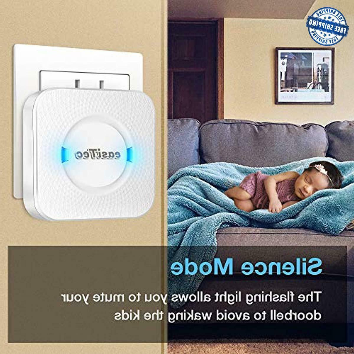 Wireless Doorbells for Ring Door Chime Kit 2 wit
