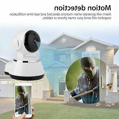 Wireless Pan Tilt 720P CCTV IP Camera Night Vision Webcam