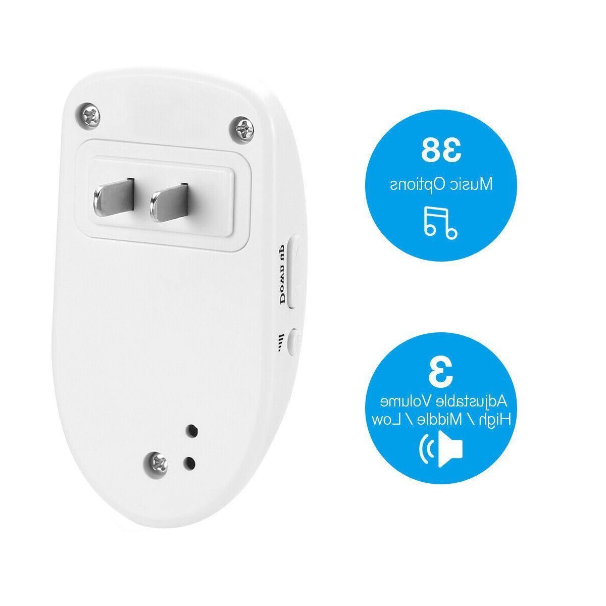 Wireless Door Loud Chime Flash 1Transmitter+2 in