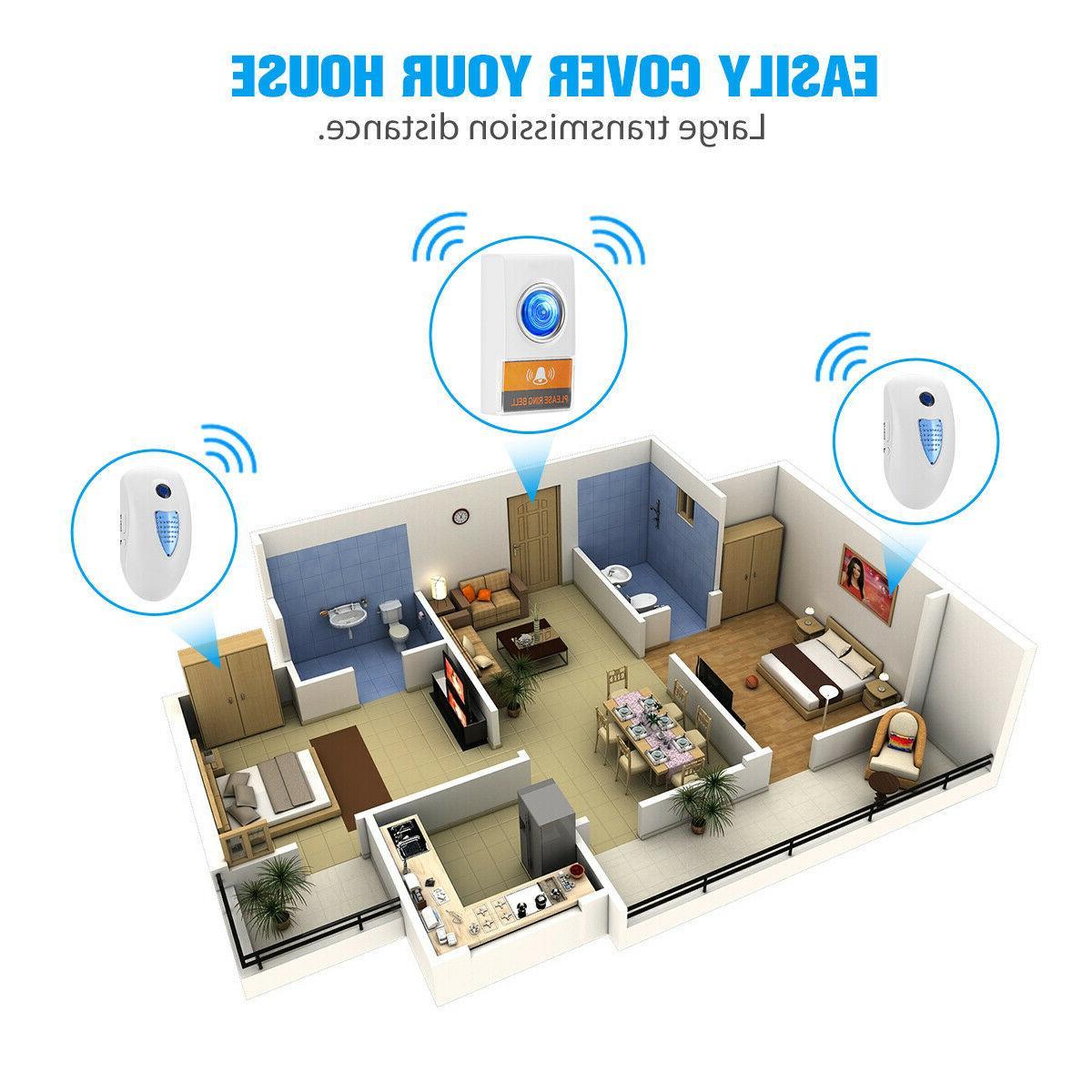 Wireless Door Bell Loud 1Transmitter+2 in Receiver