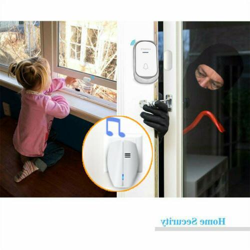 Wireless Doorbell Battery Door Bell Chime with Receiver
