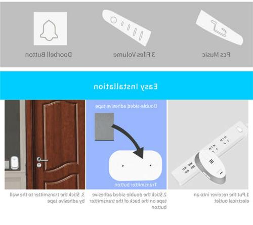 Wireless Detector Battery Bell Chime with