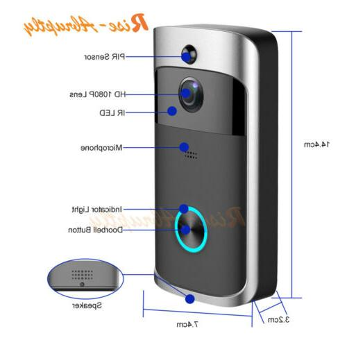 Wireless Smart WiFi Bell IR Visual Camera Kit