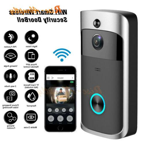 wireless smart wifi door bell ir video