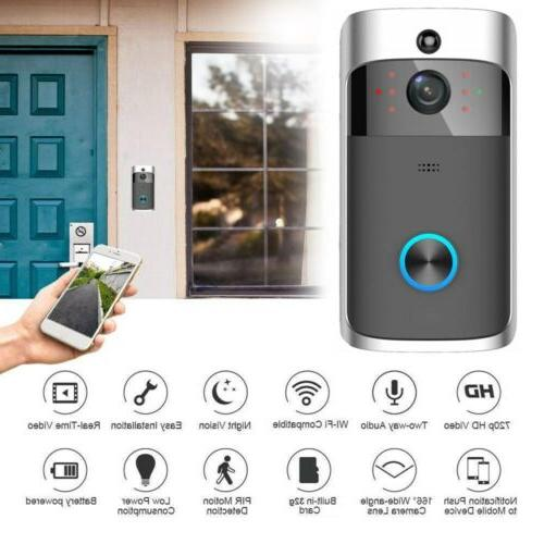 wireless smart wifi doorbell ir video visual