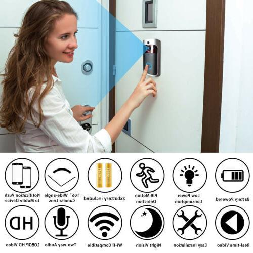 Wireless Video Doorbell WiFi Smart Security HD Ring