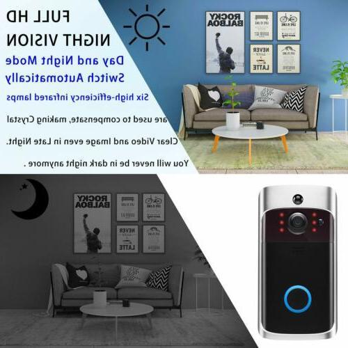 Wireless Video Doorbell Smart Camera 1080p HD Intercom