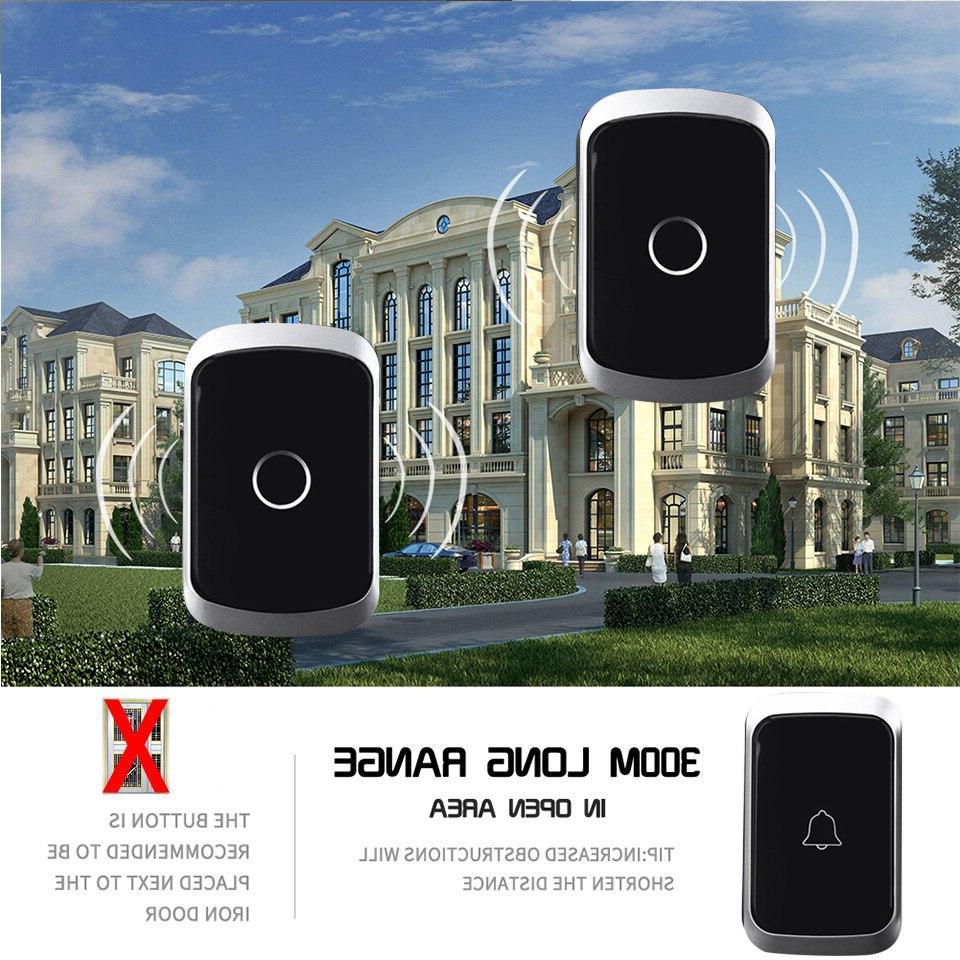 CACAZI Wireless Waterproof <font><b>Doorbell</b></font> 300M EU UK Flash Home 1