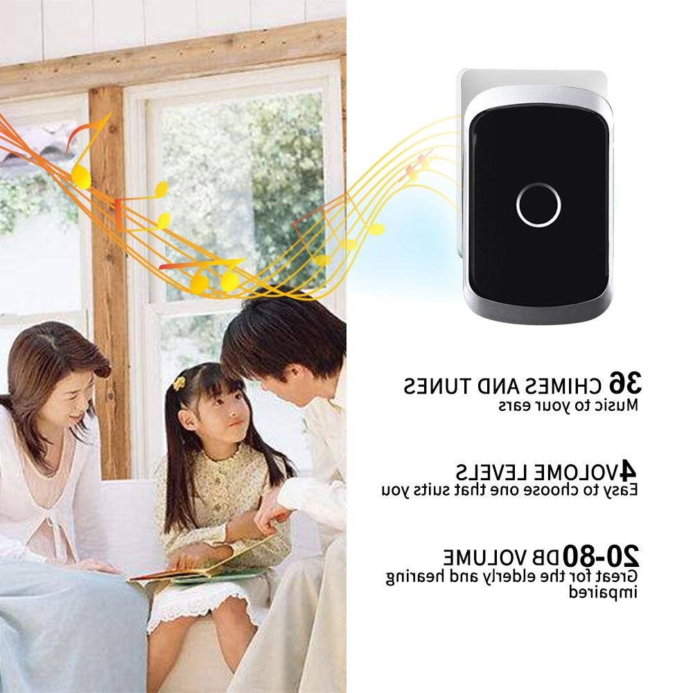 CACAZI <font><b>Doorbell</b></font> 300M US UK AU Plug LED Flash door bell chime 1