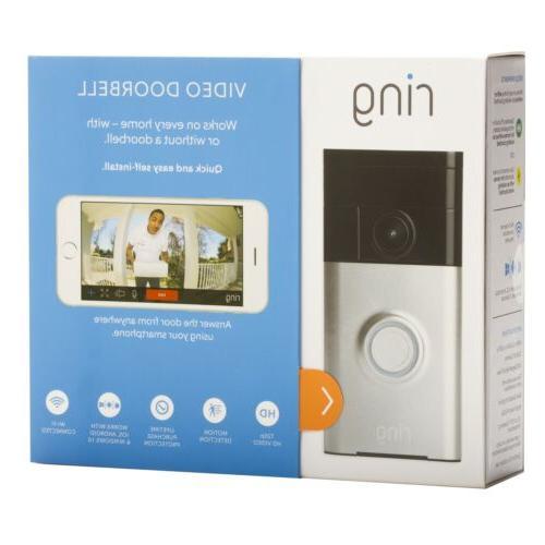 Ring Wi-Fi Video Doorbell Satin Nickel