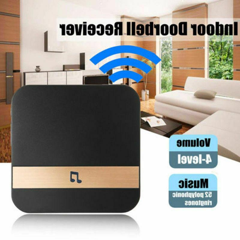Wireless WiFi Video Doorbell Chime Camera Ding-Dong Visual D