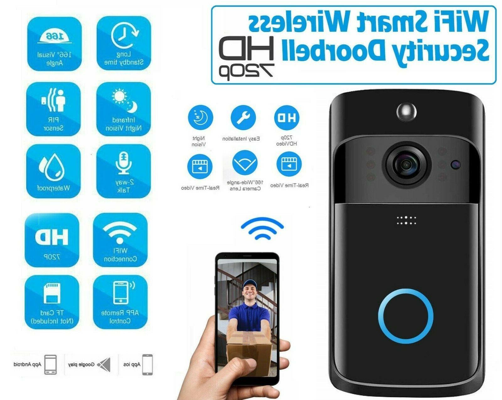 wireless wifi doorbell smart video phone door