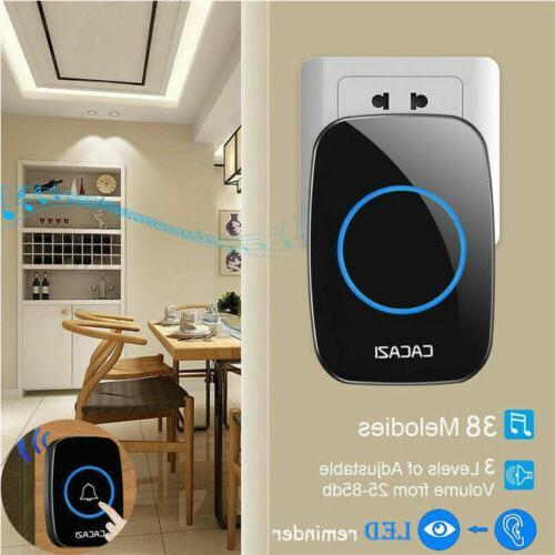 Wireless Doorbell Battery Door Bell + Plug in US