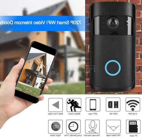wireless wifi smart doorbell hd video camera