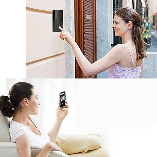 Acogedor Video Doorbell,PIR 1280 Home with Cancel Control