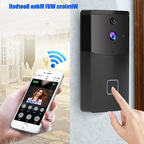 Acogedor Wireless Video Doorbell,PIR 1280 Home Security Camera,Two-Way Voice with Echo Cancel Function,APP Control and Android