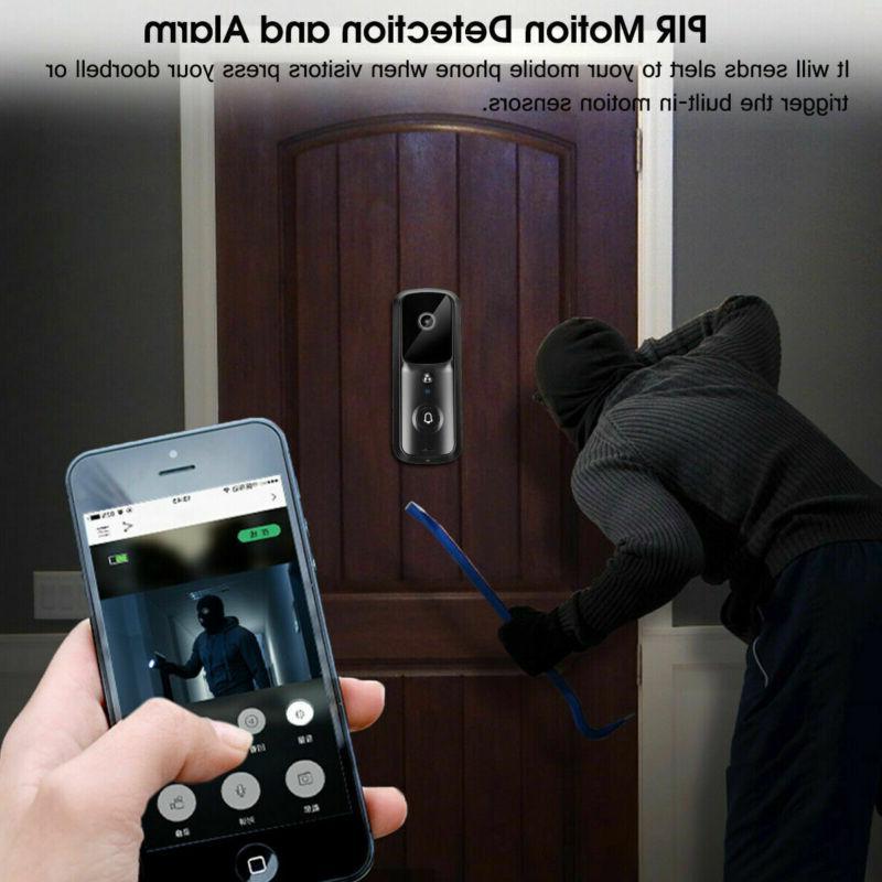 Wireless Smart Security Camera Bell 1080p