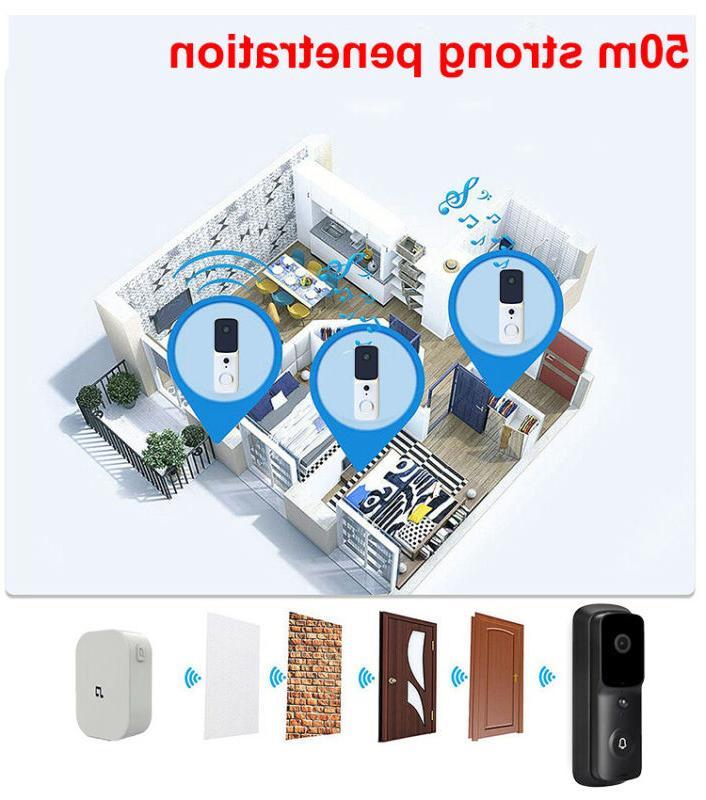 Wireless Doorbell Smart Door Intercom Camera 1080p