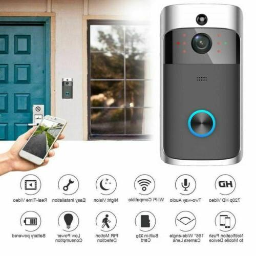 Wireless WiFi Doorbell Video Security Camera Smart PIR Door
