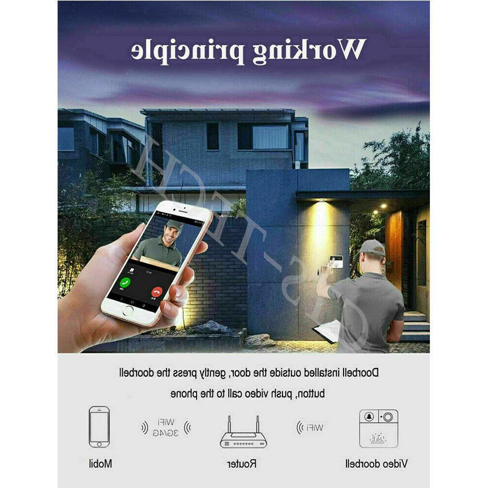 Wireless Smart Phone Door Intercom Security Camera Bell