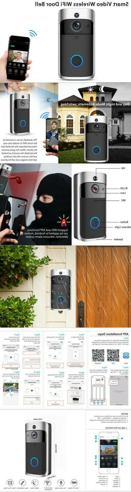 Wireless WiFi Smart Phone Door Intercom Security