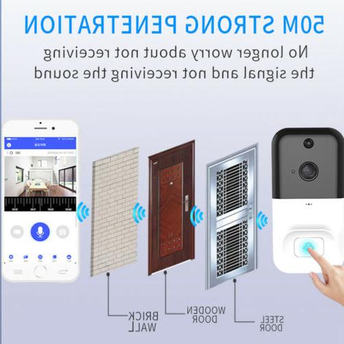 Wireless WiFi Doorbell Smartphone Door Security Camera Night