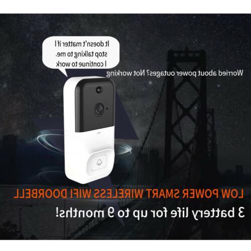 Wireless Smartphone Door Ring Intercom Security Camera Night