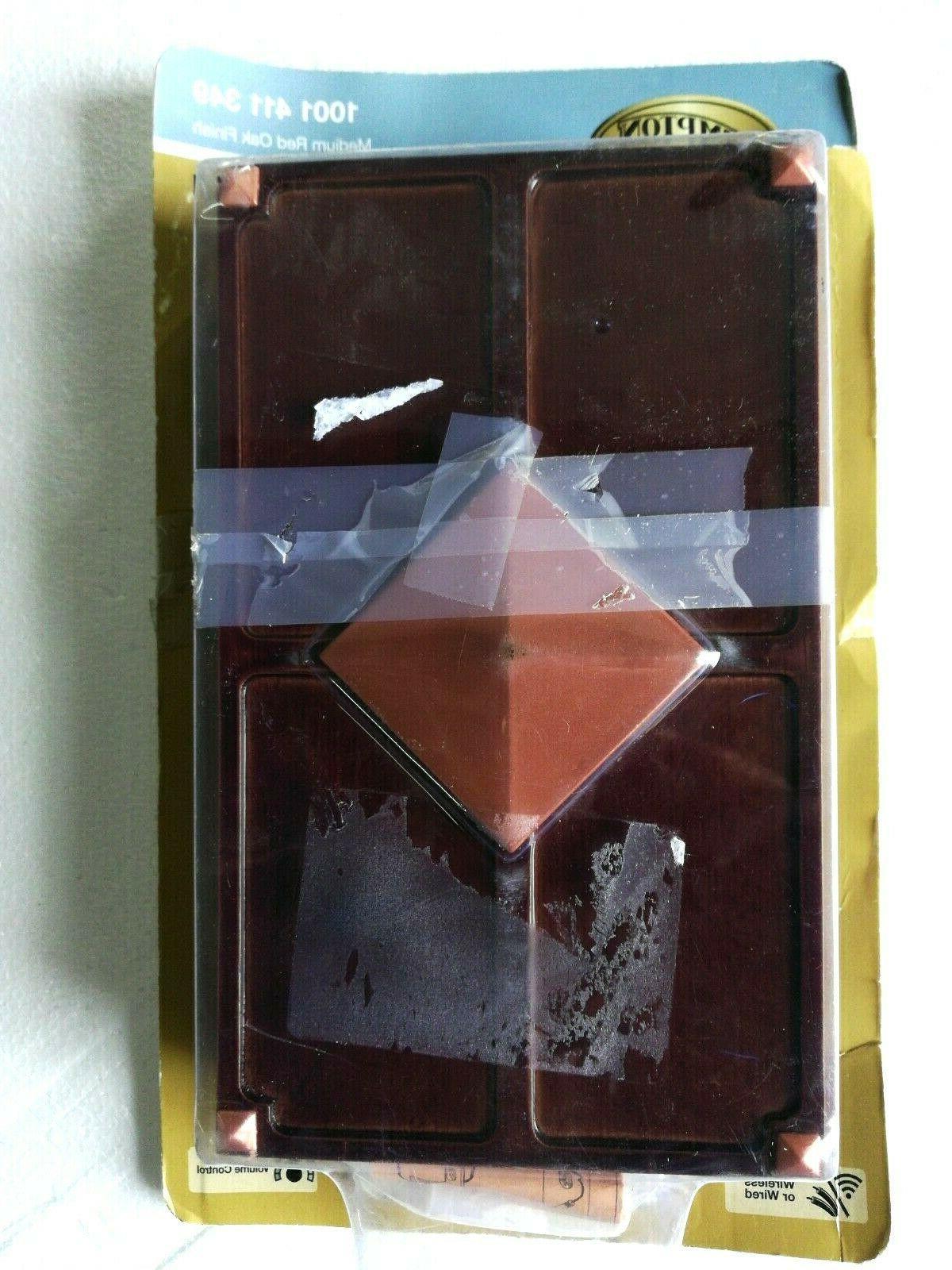 wireless wired doorbell medium red oak finish