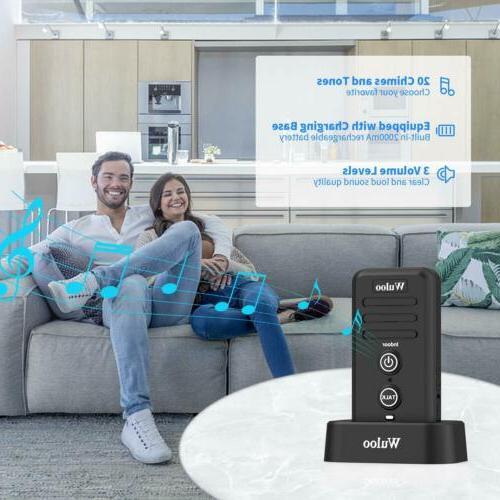 Wuloo 2640Ft Door Rechargeable Doorbells for