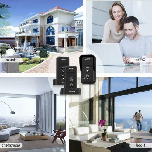Wuloo Door Intercom System Rechargeable Doorbells for